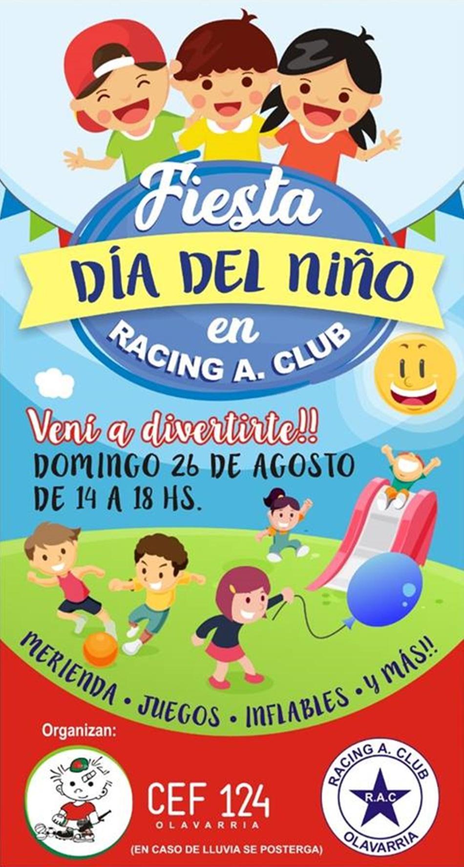 racing olavarria y el dia del niño
