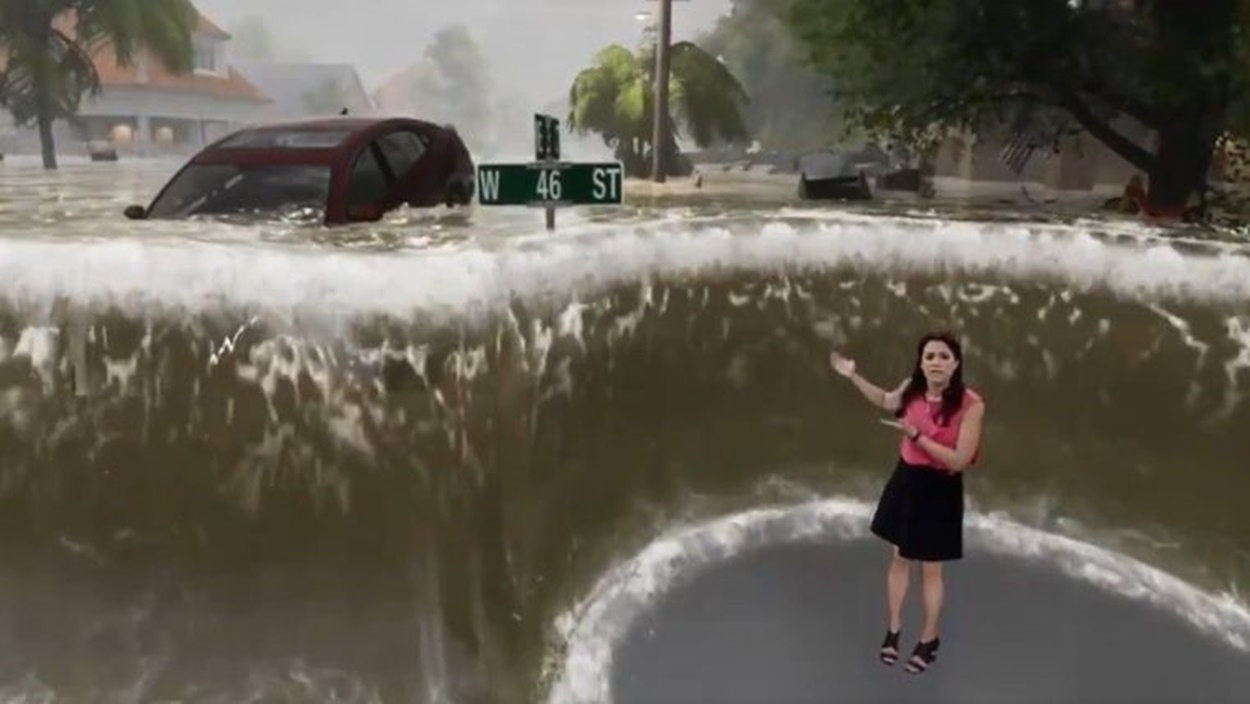 Los efectos visuales en The Weather Channel. (The Weather Channel)