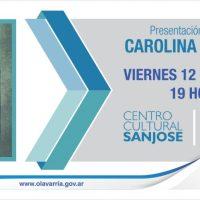 """Carolina Doartero presentará """"Sibila"""" en el Centro Cultural Municipal """"San José"""""""